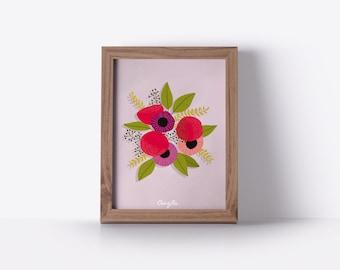 Floral card - Bouquet