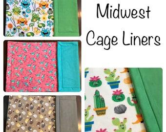 Midwest Cage Liner - Guinea Pig Cage Liner - Fleece Liner - Midwest Cage - Fleece Cage Liner - 24x47 - Piggy Fleece - Hedgehog Cage
