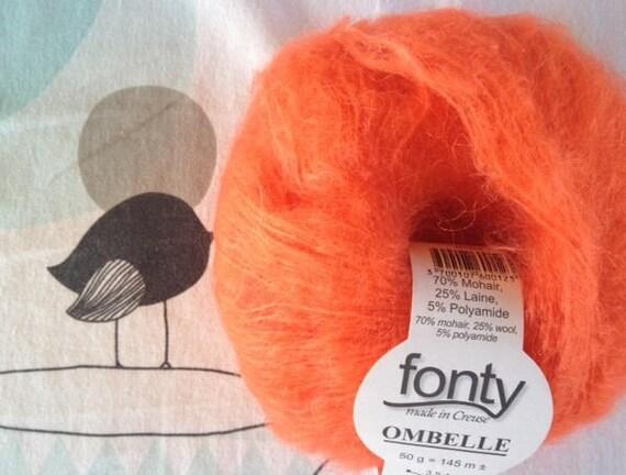 Orange wool MOHAIR UMBEL - Fonty