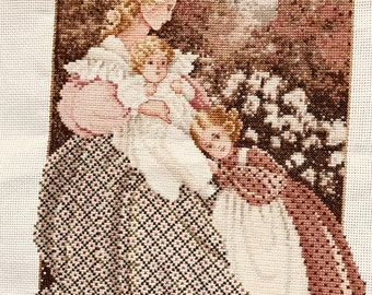 finished cross stitch, Lavender and Lace, Morning Song