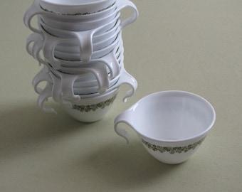 Vintage Corelle Crazy Daisy Stackable Cups - Set of Four