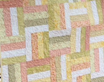 Rail Fence Baby Quilt