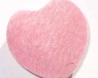 1 Pearl Heart fuzz pink 25mm AA20 pink