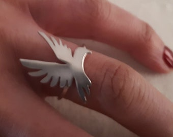 Sterling Silver Bad Ass Bird Ring