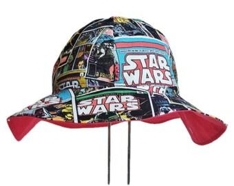 Star Wars Hat, Baby Sun Hat, Toddler Hat, Baby Boy Sun Hat, Baby Girl Sun Hat, Cotton Hat, Newborn Hat, Baby Gift, Floppy Beach Hat, Geek