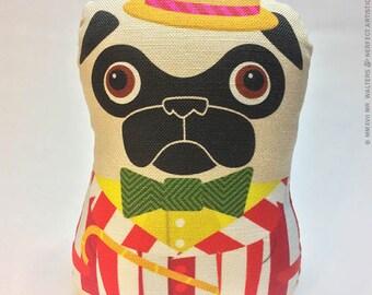 Carnival Barker Pug - Small Pug-Guise Plush