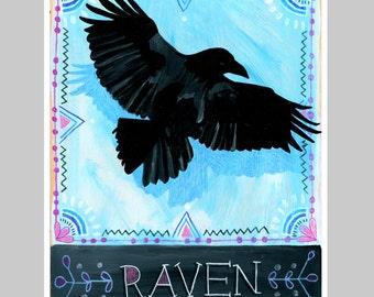 Animal Totem Print - Raven
