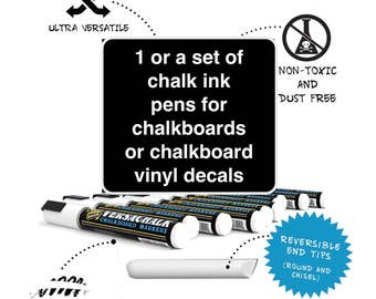 Chalkboard markers, Chalk ink pens, chalkboard decal markers, Chalkboard decal pens
