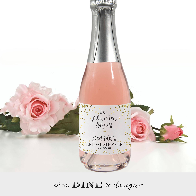 Contemporary Miniature Bottles Of Wine Wedding Favor Elaboration ...