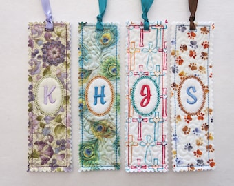 Personalized Embroidered Bookmark