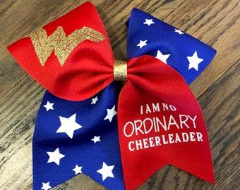 Wonder Woman Cheer Bow - Cheerleading Gifts - Cheer Bows
