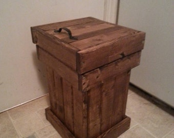 wood garbage can / wood trash bin /  bathroom garbage bin / trailer garbage bin / office trash can