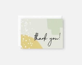 Modern Thank You Notes / Thank You Card Set / Mint and Green / Abstract Thank You Note / Boho Thank You Cards / Baby Shower Thank You Cards