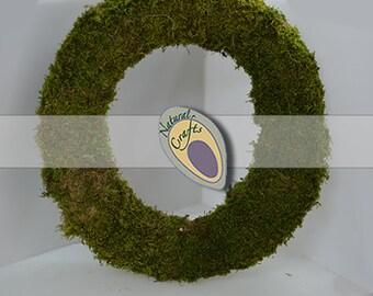 Flat Moss Wreath (floristy supplies, christmas decorations)