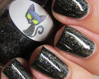 Halloween Black Cat Nail Polish