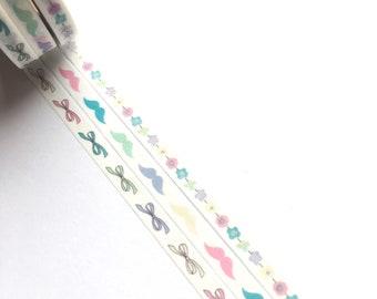 Kawaii skinny washi tape x 3