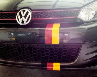 German flag stripes decals stickers germany flag for any bumper or fender
