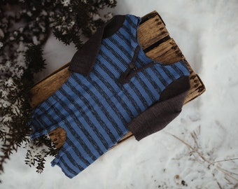 Striped jumpsuit. sitter size