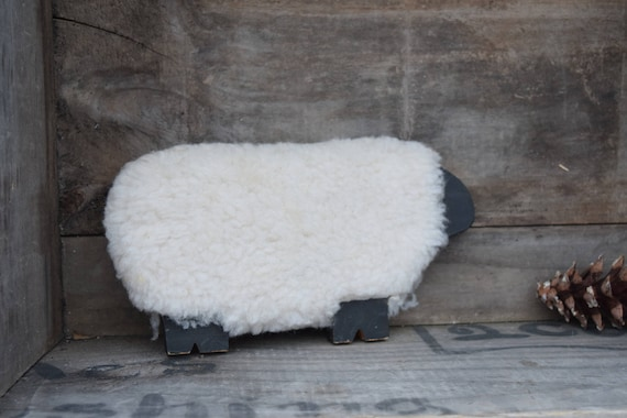 Primitive Sheep, Sheep Decor, Country Decor, Sheep Figure, Wood And Fabric,  Black And White, Farmhouse Decor, Handmade Vintage, Wooden Sheep