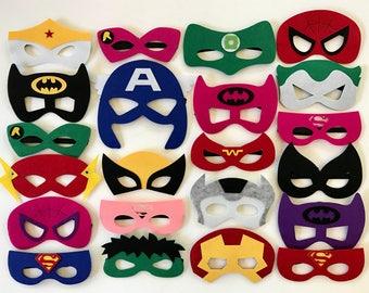 Superhero Masks,  Superhero Birthday, Superhero Party Decorations, Superhero Party, Superhero Birthday Party, Superhero Party Favors