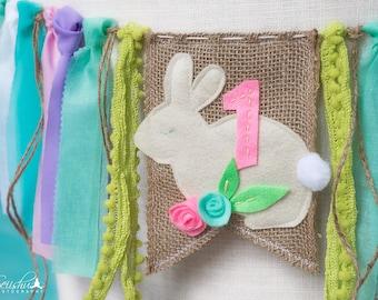 Bunny Birthday Banner, Bunny Birthday, Easter Birthday Banner, One Birthday Bunny, First Birthday Bunny, One Birthday Banner, Easter Bunny