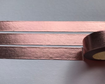 Rose gold foil washi tape, rose gold MT, masking tape, rose gold foil, 15 mm x 10 m