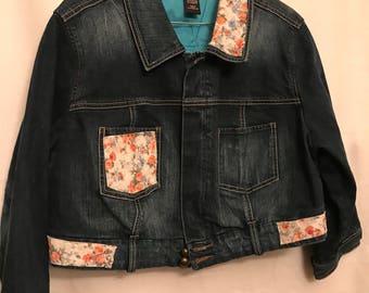 Venezia half waist denim jacket size 14/16