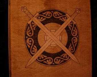 Handmade Wooden Ring Binder Folder - FREE UK SHIPPING!