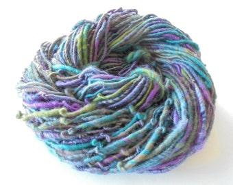 YELLOWSTONE Corespun Art Yarn, Handspun Yarn, Merino Wool Yarn, Bamboo Yarn, Shimmery Yarn, Bulky Knit Yarn, Bulky Merino Yarn, Soft Yarn