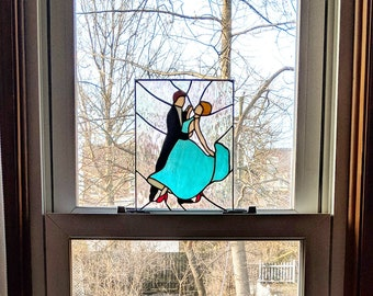 Stained Glass Ballroom Dancers Panel