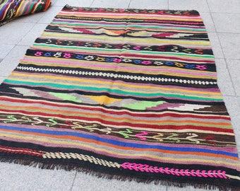 kilim rug vintage , kilim, floor kilim rug, Turkish Kilim rug for home