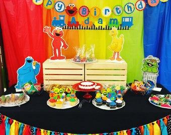 Elmo, Elmo Banner, Elmo Party, Sesame Street Party, Birthday Banner