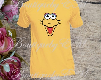 Big Bird face Sesame Street inspired T-shirt, MORE CHARACTERS AVAILABLE!