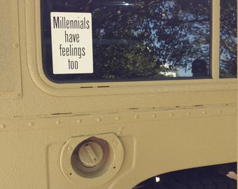 Millenial Feelings Sticker