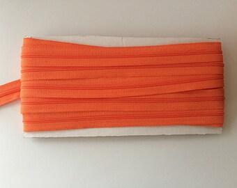 10 yds ORANGE YKK Nylon Zipper chain 45CF 5/8 inch