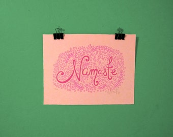 Namaste Screen Print