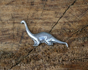 Diplodocus Pin Brooch Badge Pewter Dinosaur Gift