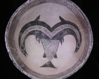 Mimbres / Anasazi Fishes Design Replication Bowl