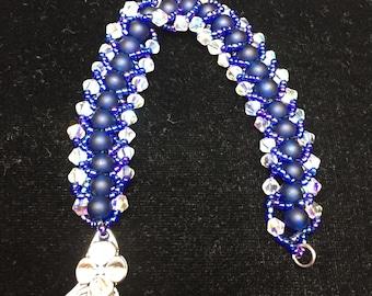 Cobalt Sea Glass Bracelet