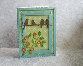 Greeting card - Just because - with birds
