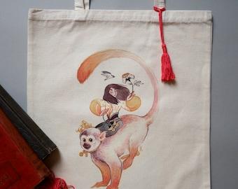Saimiri Tote Bag - Cotton shoulder bag