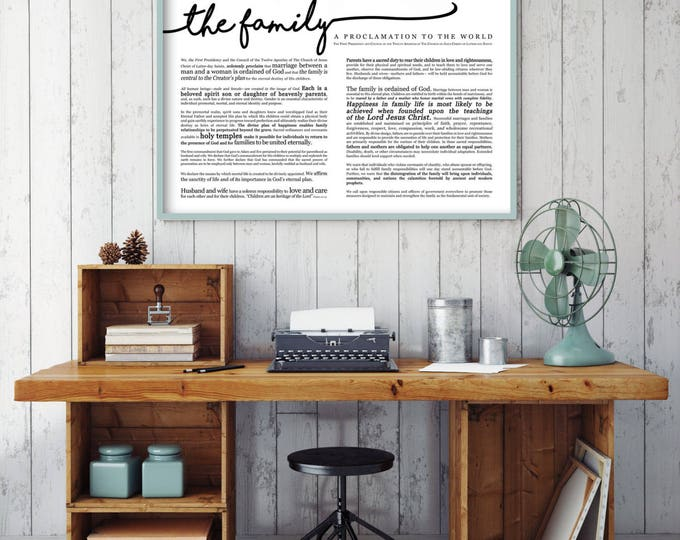 Horizontal Family Proclamation Print- on Premium Paper