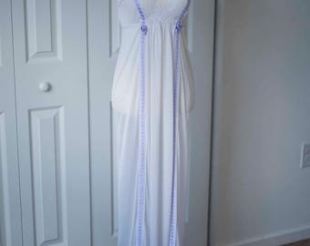 Vintage Lingerie || Long Nightgown || Silk Nightwear