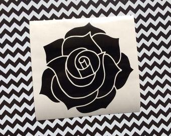 Rose vinyl decal - Car decal, laptop decal, Floral