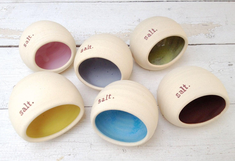 & Ceramic Salt Cellar With Lid