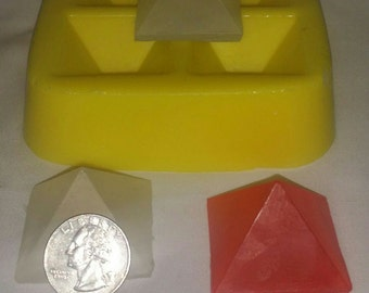 "1 1/2"" Pyramid Soap & Candle Mold"
