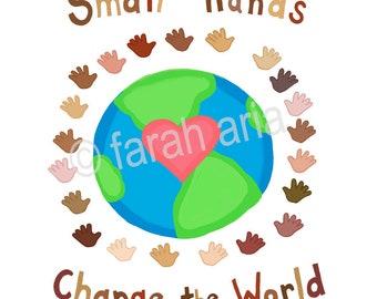 digital download Small Hands Change the World children diversity multicultural