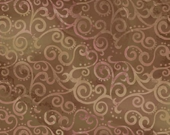Ombre Sable Scrollwork-Quilting Treasures-BTY