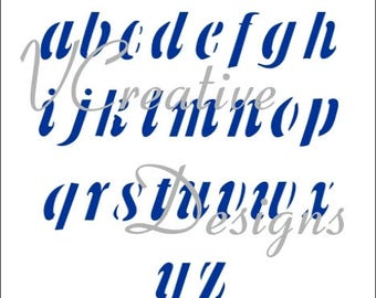 Banner Lower Case alphabet stencil