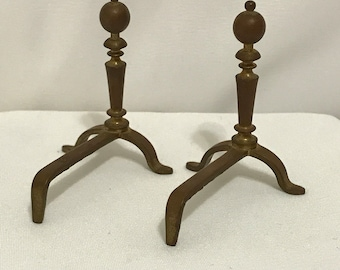 """Dollhouse Miniature Fireplace Andirons in 1"""" Scale"""